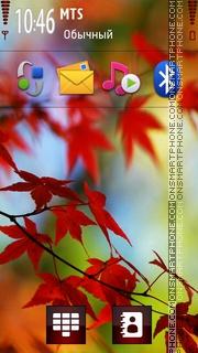 Red Leaf 01 theme screenshot