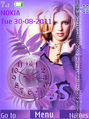 Britney Spears tema screenshot
