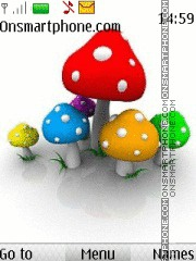 Mushrooms 01 theme screenshot