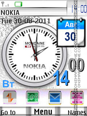 Nokia Clock with Icons theme screenshot