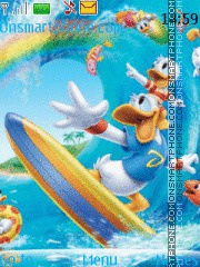 Donald Duck 18 theme screenshot