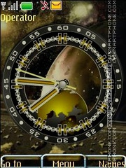 Analog clock swf theme screenshot