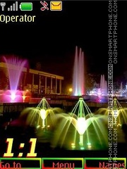 Fountains 12pict swf theme screenshot