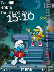 The Smurfs theme screenshot
