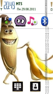 Funny Banana 02 Theme-Screenshot