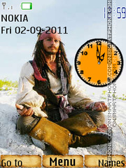Captain Jack Sparrow 02 theme screenshot