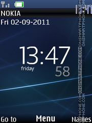 Xperia Blue Theme theme screenshot