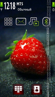 Strawberry 10 theme screenshot