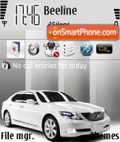 Lexus LS600h es el tema de pantalla