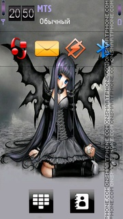 Goth Angel 01 theme screenshot
