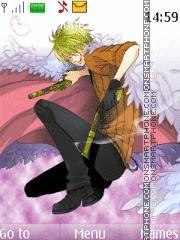One piece sanji tema screenshot