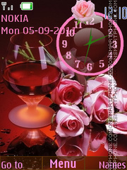 Flower theme clock theme screenshot