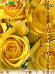 Yellow roses theme screenshot