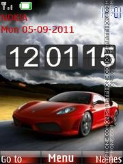 Ferrari+Clock theme screenshot