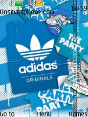 Adidas Originals theme screenshot