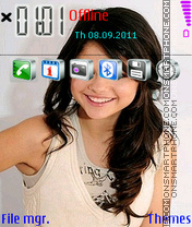 Selena Gomez 02 theme screenshot