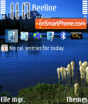 Blue Lake theme screenshot