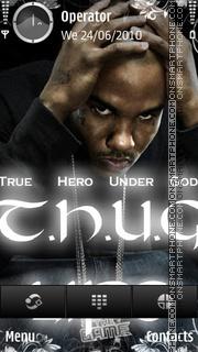 The game thug es el tema de pantalla
