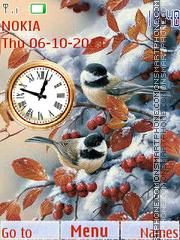 Скриншот темы Autumn Clock 02