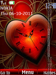 Heart Clock 03 theme screenshot
