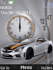 Mercedes Dual Clock tema screenshot