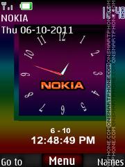 Nokia Dual Clock 04 tema screenshot