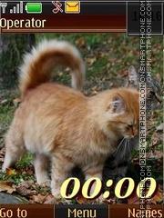 Autumn cats 12 pict swf tema screenshot