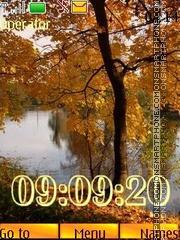 Скриншот темы Autumn Gold 12 pict swf