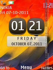 Symbian Belle Parrot theme screenshot