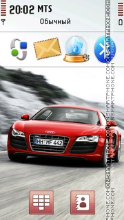 Red Audi 03 theme screenshot