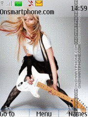 Avril Lavigne 17 theme screenshot