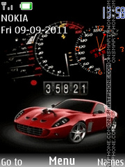 SWF Ferrari Clock theme screenshot