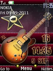 Guitar Clock 3d tema screenshot