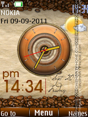 Android Coffee Clock theme screenshot