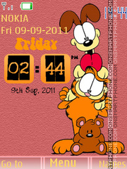 Garfield With Odie theme screenshot