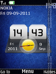 New Htc Dual Clock theme screenshot