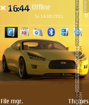 Yellow Hyundai theme screenshot