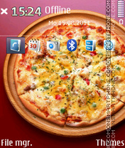 Pizza Wallpaper 01 Theme-Screenshot