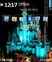 Castle In Disney Worlds Magic Kingdom theme screenshot