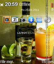 Tequila Lunazul theme screenshot