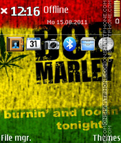 Bob Marley 11 theme screenshot