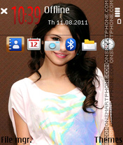 Selena Gomez 03 theme screenshot