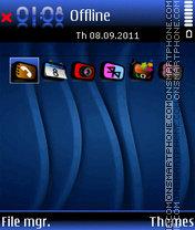 Blue Dark 5db theme screenshot