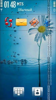 Blue Flower 08 Theme-Screenshot