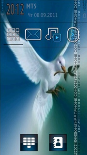 Dove Peace theme screenshot