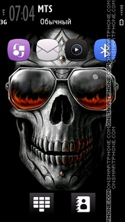 Rocking Skull theme screenshot