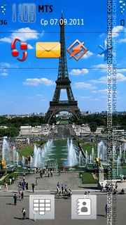 Eiffel Tower 12 theme screenshot