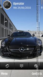 Скриншот темы Mercedes dark