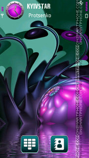 Surreal abstract theme screenshot