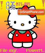 Hello Kitty theme screenshot